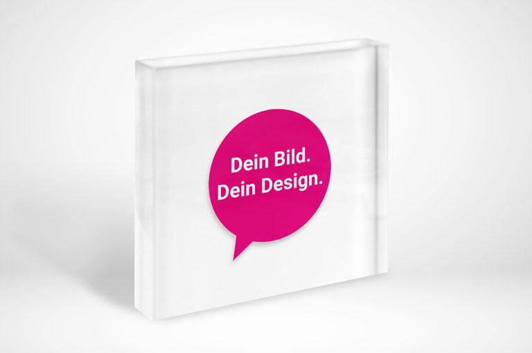 Acrylblock: Dein Bild. Dein Design.