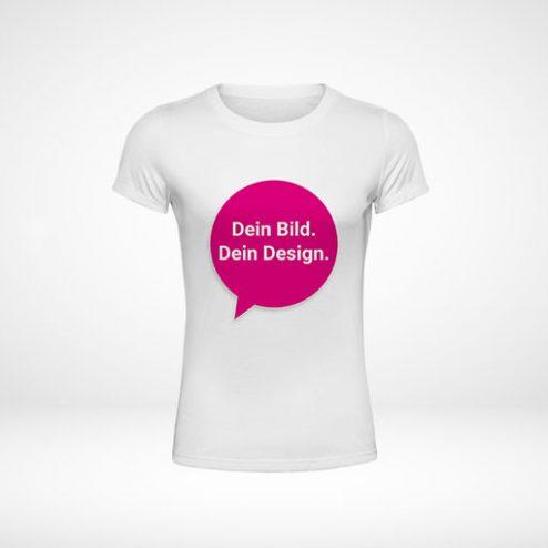 Damen-T-Shirts online gestalten und blitzschnell drucken!