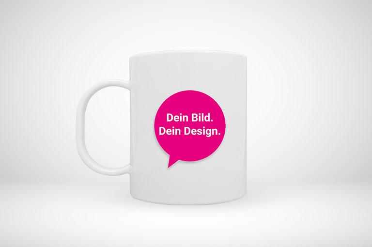 Kunststoff-Tasse im Standardformat online gestalten und blitzschnell drucken!
