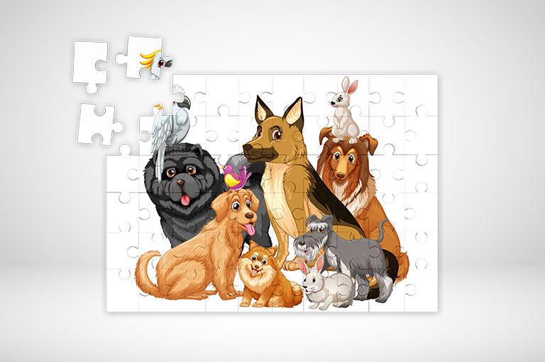 Puzzle farbig online gestalten und blitzschnell bedrucken!