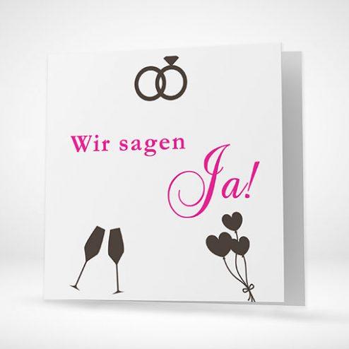 Hochzeitskarten im quadratischen Format! (15x15cm)