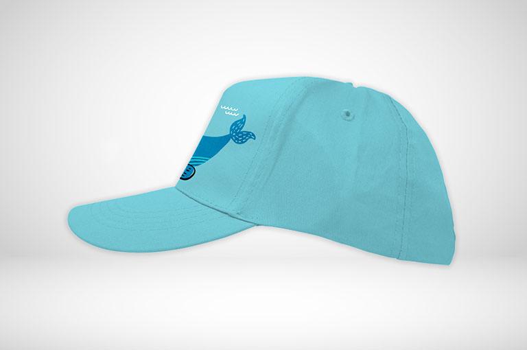 Kinder-Caps farbig online gestalten und blitzschnell bedrucken!
