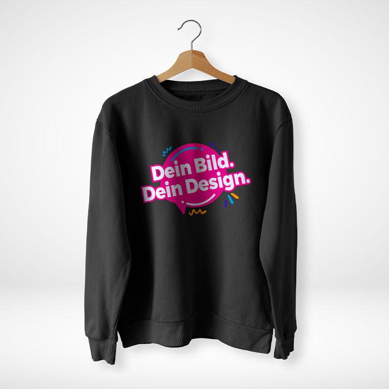 Sweater online gestalten und blitzschnell drucken!