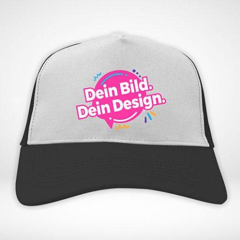Trucker-Caps farbig online gestalten und blitzschnell bedrucken!